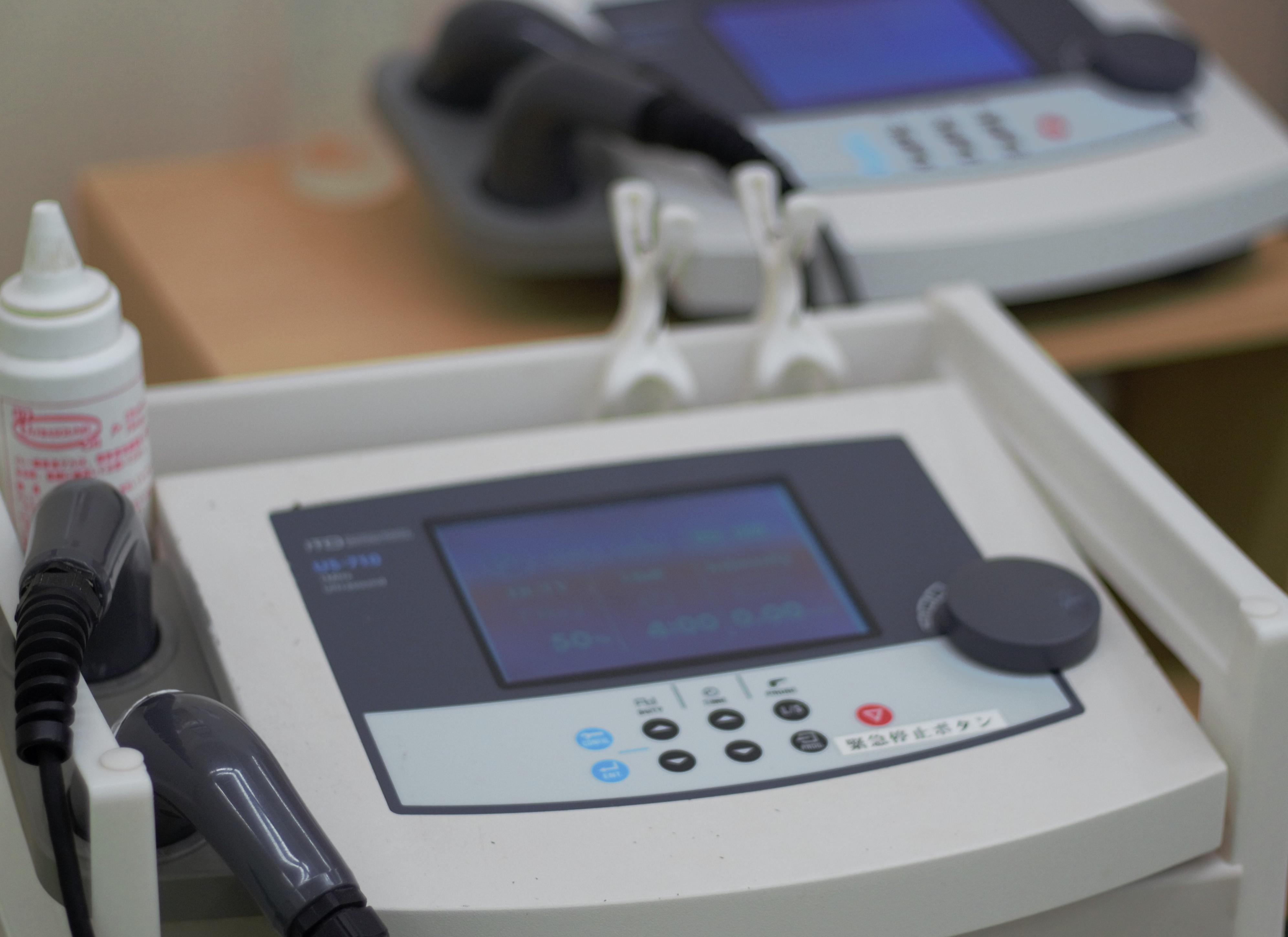タチリュウコンディショニング TR習志野整骨院 超音波 物療